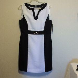 Tamar Black and White Dress